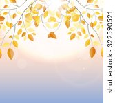 shiny autumn natural leaves... | Shutterstock .eps vector #322590521