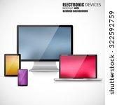 electronic devices mockup set...