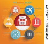 logistic and cargo info graphic ... | Shutterstock .eps vector #322598195