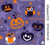 seamless halloween pattern with ... | Shutterstock .eps vector #322599905