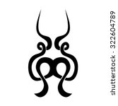 tribal tattoo vector design...   Shutterstock .eps vector #322604789