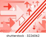 abstract reflected arrows red... | Shutterstock .eps vector #3226062
