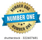 number one 3d gold badge with... | Shutterstock .eps vector #322607681