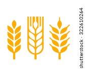 wheat ear spica icon set. vector | Shutterstock .eps vector #322610264