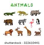 pixel animals | Shutterstock .eps vector #322610441
