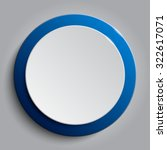 Vector. Blue Circle Button On...