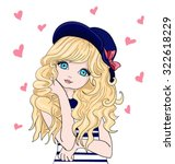 cute girl vector design... | Shutterstock .eps vector #322618229