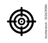 target aim symbol icon | Shutterstock .eps vector #322619084