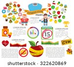 fitness and diet infographic ... | Shutterstock .eps vector #322620869