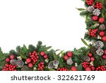 christmas background border... | Shutterstock . vector #322621769