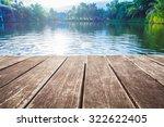 Antique Wooden Pier On The Lak...