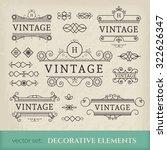 calligraphic design elements.... | Shutterstock .eps vector #322626347