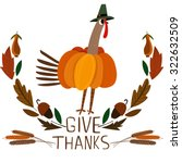 happy thanksgiving day card... | Shutterstock .eps vector #322632509