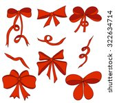 set of bows and satin ribbons.... | Shutterstock .eps vector #322634714