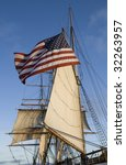 This is Stars and Stripes and Sails - stock photo