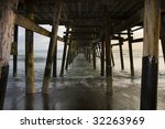 This is Under the Pier - stock photo