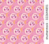 seamless cute owl pattern   Shutterstock .eps vector #322644851