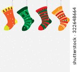 christmas socks | Shutterstock .eps vector #322648664