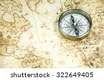 compass on a old world map | Shutterstock . vector #322649405