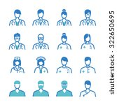 medical staff icons set | Shutterstock .eps vector #322650695