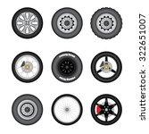 wheel set | Shutterstock .eps vector #322651007