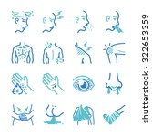 sick and disease icons set | Shutterstock .eps vector #322653359