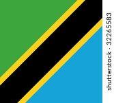 cube flag of tanzania | Shutterstock . vector #32265583
