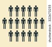 people icon   population  team  ... | Shutterstock . vector #322673255