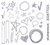 vector set of hand drawn... | Shutterstock .eps vector #322677221