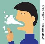 smoking man   vector... | Shutterstock .eps vector #322677371