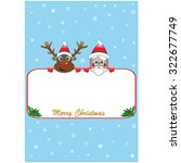 blue poster with two xmas... | Shutterstock .eps vector #322677749