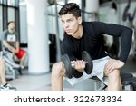 young handsome man training in... | Shutterstock . vector #322678334
