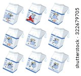 milk. packing with the drawn cow   Shutterstock . vector #322679705