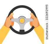 Hands Holding Steering Wheel ...