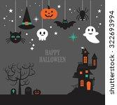 halloween background with...   Shutterstock .eps vector #322693994