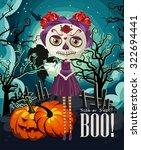 happy halloween vector... | Shutterstock .eps vector #322694441