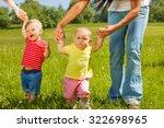 babies learn how to walk... | Shutterstock . vector #322698965