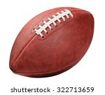 american football isolated on... | Shutterstock . vector #322713659