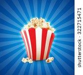 popcorn banner | Shutterstock .eps vector #322715471