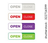 website button set flat design | Shutterstock .eps vector #322716599