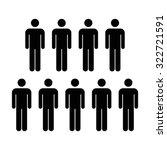 people icon   men vector | Shutterstock .eps vector #322721591