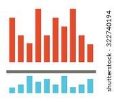 analysis bar graph   flat design | Shutterstock .eps vector #322740194