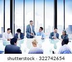 business people meeting... | Shutterstock . vector #322742654