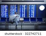 businessman airport business... | Shutterstock . vector #322742711