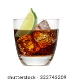 cuba libre or vodka and cola... | Shutterstock . vector #322743209