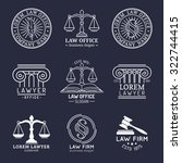 law office logos set with... | Shutterstock .eps vector #322744415