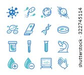 laboratory icon set. included... | Shutterstock .eps vector #322745114