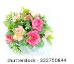 bunch flower on white background | Shutterstock . vector #322750844