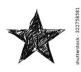 sketch star on background