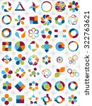 collection of infographic... | Shutterstock . vector #322763621